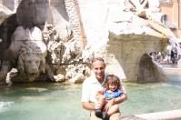 Rod Cedaro with his son